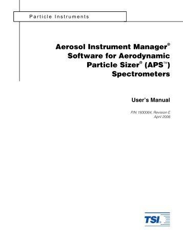 Aerosol Instrument Manager Software for Scanning Mobility