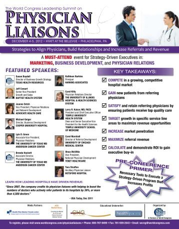 Physician Liaisons Physician Liaisons - World Congress