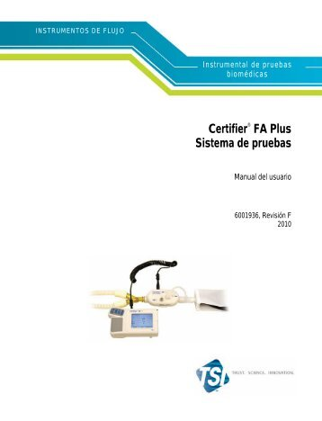 Certifier FA Plus Sistema de pruebas Manual del usuario - TSI