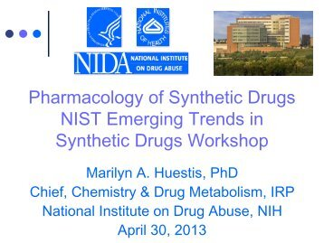Pharmacology of Synthetic Drugs NIST Emerging Trends in Synthetic Drugs Workshop