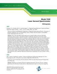 Model 3340 Laser Aerosol Spectrometer Bibliography - Tsi