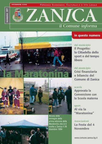 Notiziario n. 37 - dicembre 2008 - Comune di Zanica