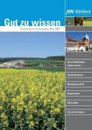 Gut zu wissen - Alb-Elektrizitaetswerk Geislingen-Steige eG