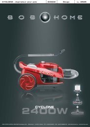 CYCLONE – Aspirateur pour sols 2400W Rouge - BOB HOME