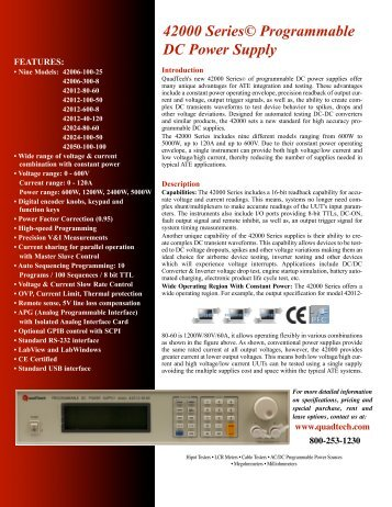 42000 Series© Programmable DC Power Supply - Amtest-PL