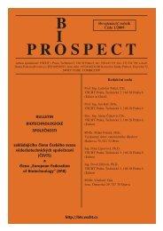 B I OPR SPECT - Biotechnologická společnost