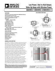 ADA4853-1/ADA4853-2/ADA4853-3 (Rev. F) - Analog Devices