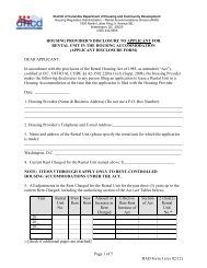 Page 1 of 5 RAD Form 3 (rev 02/12) HOUSING PROVIDER'S ...