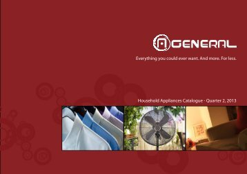 """A.General"" Household Appliances Catalogue"