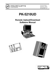 SK-5C Remote Upload/Download Software Manual - Fire-Lite Alarms
