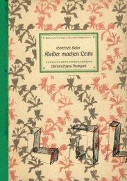 Gottfried Keller KLEIDER MACHEN LEUTE - Literaturmachen.de
