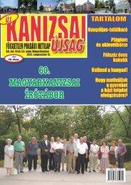 Új Kanizsai Újság - 2012. szeptember 13-ai száma - Kanjiza