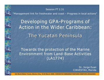 Dr. Jorge Euan - NOS International Programs Office - NOAA
