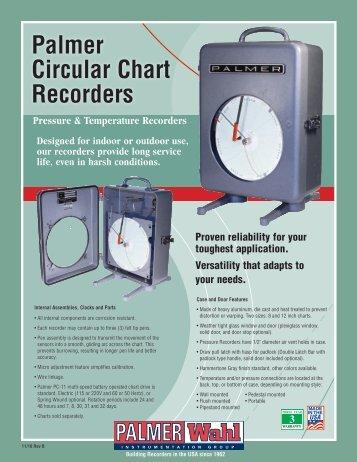 Palmer Circular Chart Recorders - Palmer Wahl Instrumentation