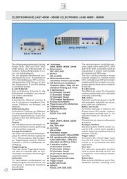 ElEktronischE last 400W - 3600W / ElEctronic load 400W - 3600W