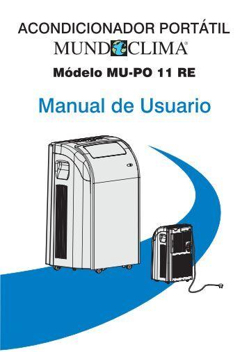 Manual de usuario del acondicionador portátil Mundoclima Serie ...