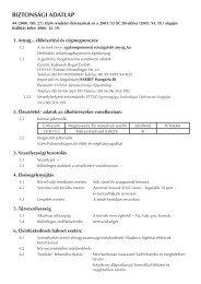 biztonsági adatlap - Sakret Hungária Bt.
