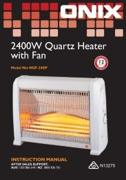 2400W Quartz Heater with Fan - Tempo (Aust)