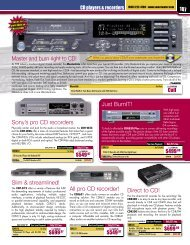 Just BurnIT! Sony's pro CD recorders Direct to CD ... - Sweetwater.com
