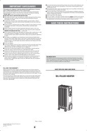 save these instructions important safeguards oil-filled heater