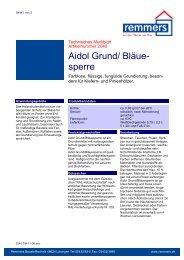 Aidol Grund/ Bläue- sperre - Tischlerei Albers