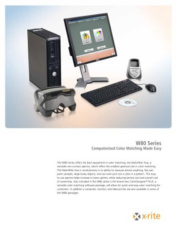 W80 Series Brochure - X-Rite