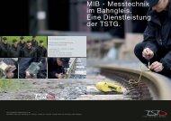 Flyer TSTG MIB - Messtechnik im Bahngleis [444 KByte/pdf]
