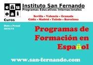 Programas de Formación en Español - Instituto San Fernando