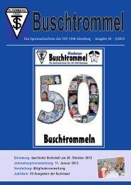 Die Sportnachrichten des TSV 1946 Altenberg - Ausgabe 50 - 3/2012