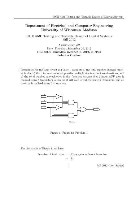 Homework set 2 solution(pdf file) - University of Wisconsin-Madison