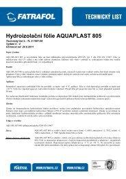 Hydroizolační fólie AQUAPLAST 805 - Fatran