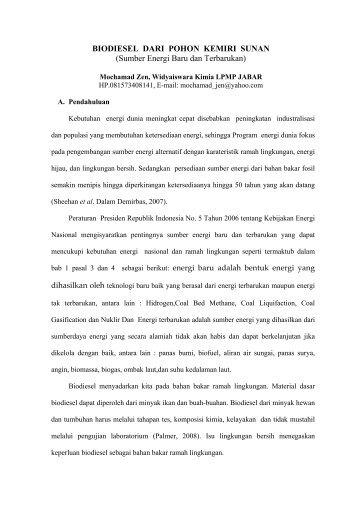 Biodiesel dari Pohon Kemiri Sunan.pdf - LPMP Jawa Barat