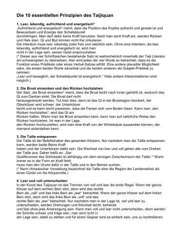 Prinzipien des Tai Chi