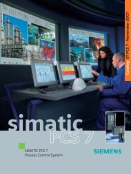 SIMATIC PCS 7 Process Control System - Siemens