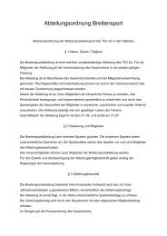 Abteilungsordnung Breitensport - TSV Au id Hallertau
