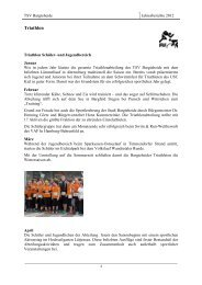 Jahresbericht 2012 Triathlon - TSV