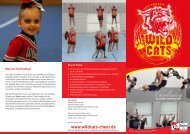 kann man Informationen zum Cheerleading bei den Wildcats des ...