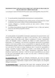adempimenti dei comandanti di corpo nei casi di reati militari e di ...