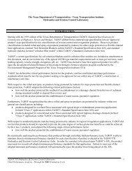 TxDOT/TTI HYDRAULICS & EROSION CONTROL LABORATORY