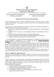 Regolamento Viaggi di Istruzione - IIS Francesco Algarotti