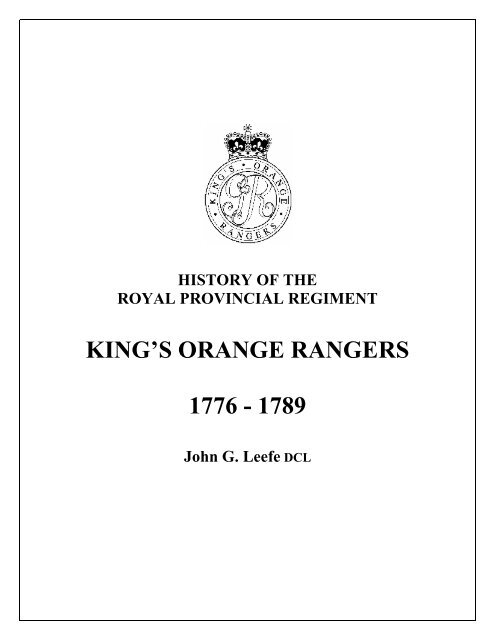 History - Kings Orange Rangers