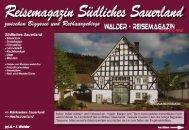 Reisemagazin Südliches Sauerland - Reisetipps-Europa.de