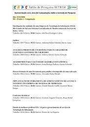 Salão de Iniciação Científica e Jornada de Pesquisa, apresentação ...