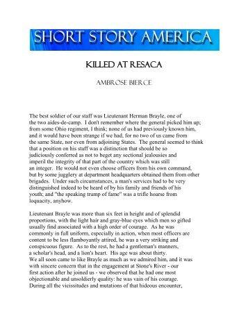 KILLED AT RESACA - Short Story America