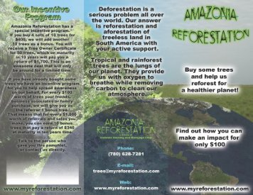 brochure - Amazonia Reforestation
