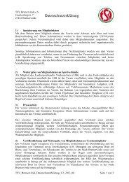 Datenschutzerklärung, bitte hier klicken - TSV Bremervörde