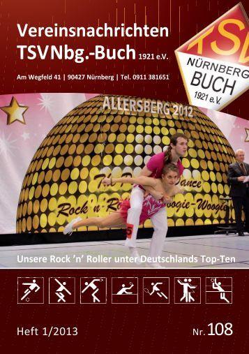 Vereinsnachrichten Heft I 2013 - TSV Nürnberg-Buch 1921 eV
