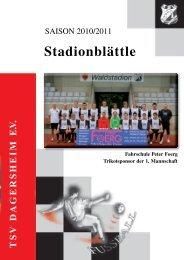 Saison 2010 / 2011 - TSV Dagersheim
