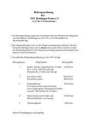Beitragsordnung des TSV Dettingen/Erms e.V. - Turn- und ...