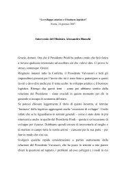 Intervento del Ministro Alessandro Bianchi Grazie, dottore ... - Confetra